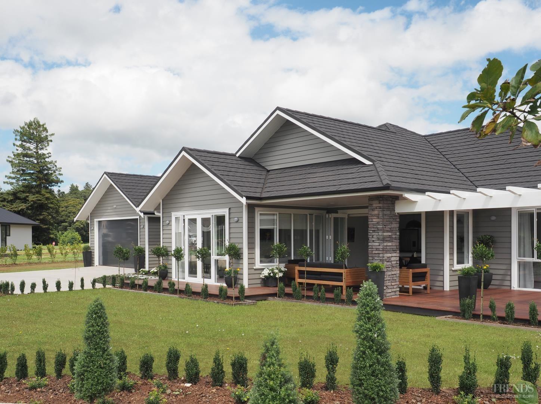 Pale Resene tones complement this modern Landmark Homes interior