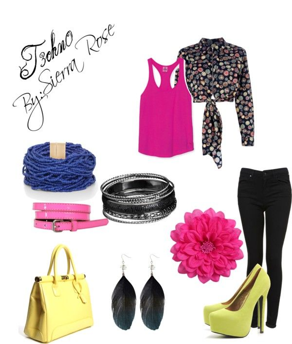 """t3chn0"" by sierra-lesnik on Polyvore"