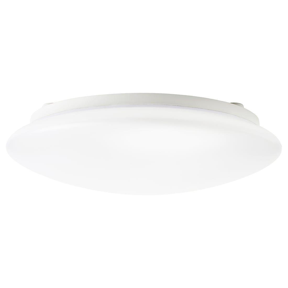 SJÖGÅNG LED tak vägglampa, vit, 25 cm IKEA i 2020