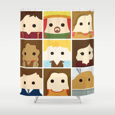 Firefly Serenity Collage Shower Curtain