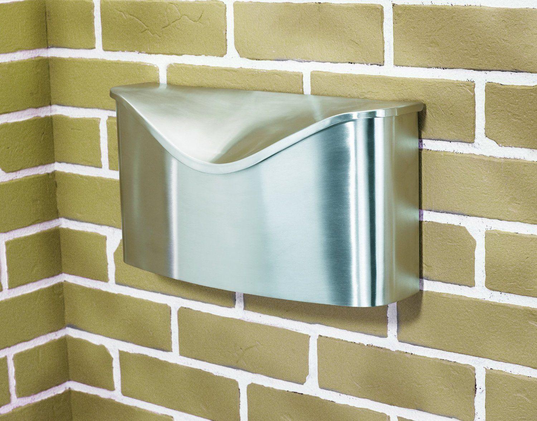 Umbra 460322 592 Postino Wall Mount Mailbox Stainless Steel Modern Mailbox Amazon Com Modern Mailbox Wall Mounted Modern Mailbox Contemporary Mailboxes