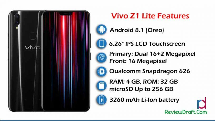 Vivo Z1 Lite Price in Bangladesh, Full Specification | Mobile news