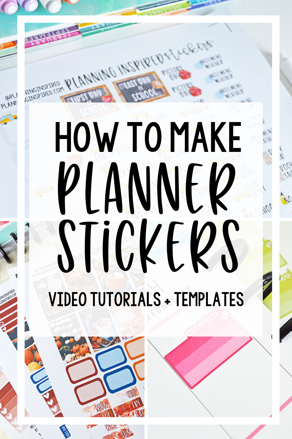 Learn how to make planner stickers using a silhouette machine including where to find fonts