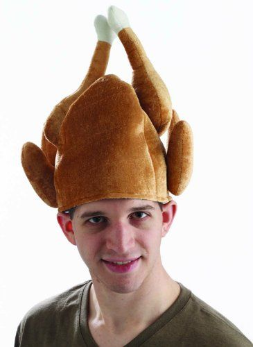 Novelty Crazy Turkey Hat Adults Christmas Party Fancy Dress Accessory