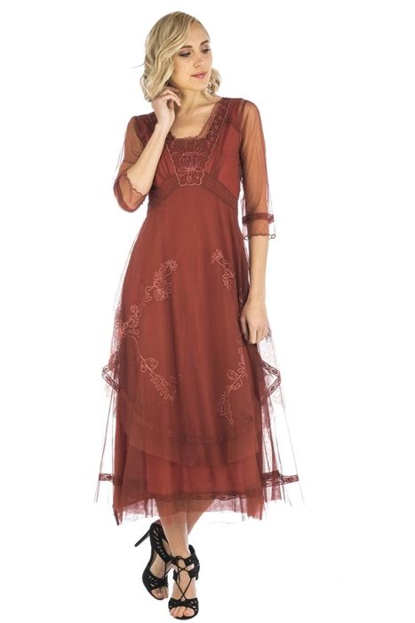 Nataya Samantha Dress #CL-163 Paprika