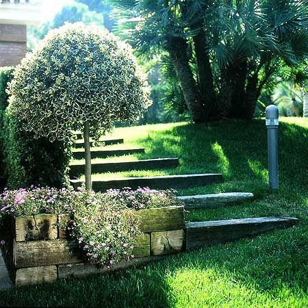 Jardines Con Desnivel Tema Taludes Desniveles Y Escaleras En