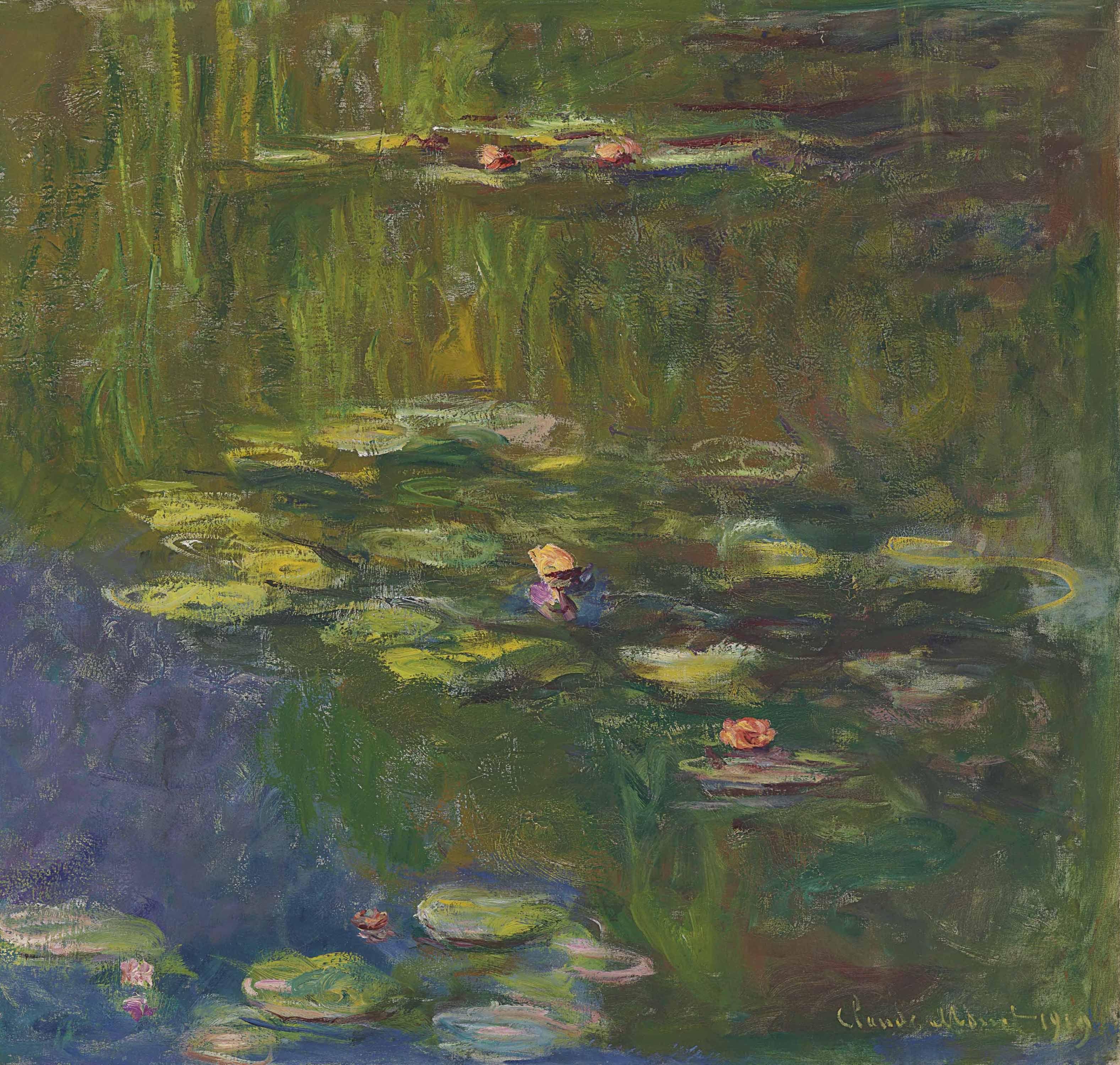 Claude Monet (1840-1926) | Le bassin aux nymphéas | 1910s, Paintings |  Christie's | Art, Impressionist art, Claude monet
