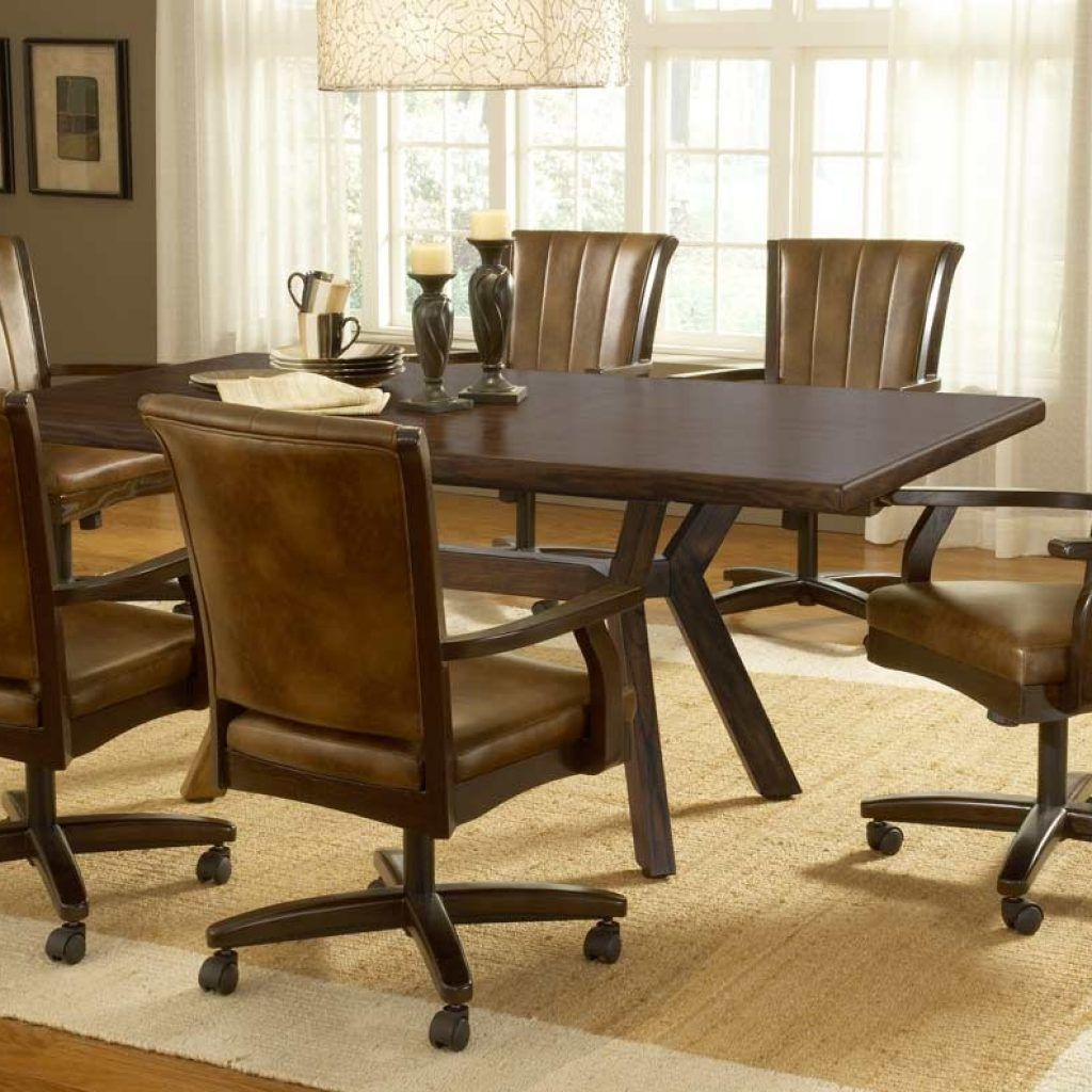 Round Kitchen Table With Rolling Chairs & Round Kitchen Table With Rolling Chairs   http://sodakaustica.com ...