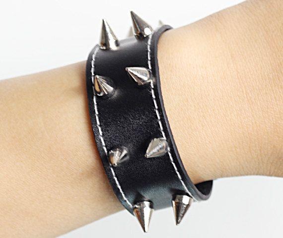mens leather bracelets   black  leather  bracelets by lifesunshine, $7.99