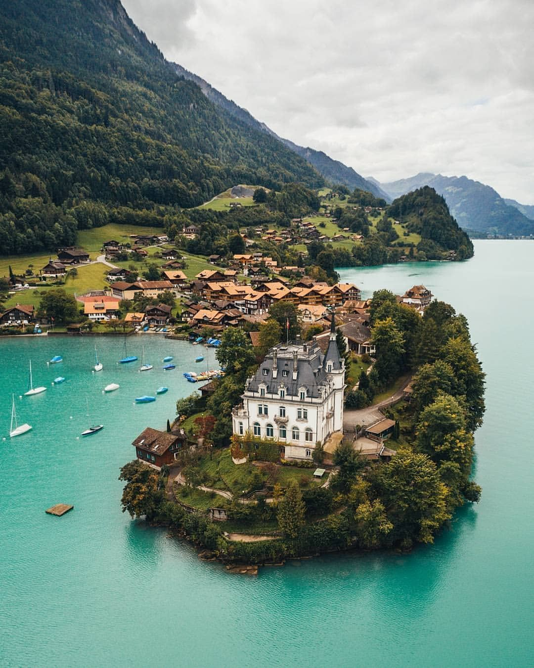 Schloss Seeburg, Iseltwald, Switzerland | switzerland in