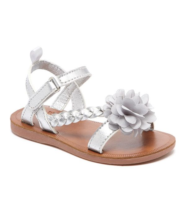 Look at this Silver Anna Sandal on #zulily today!