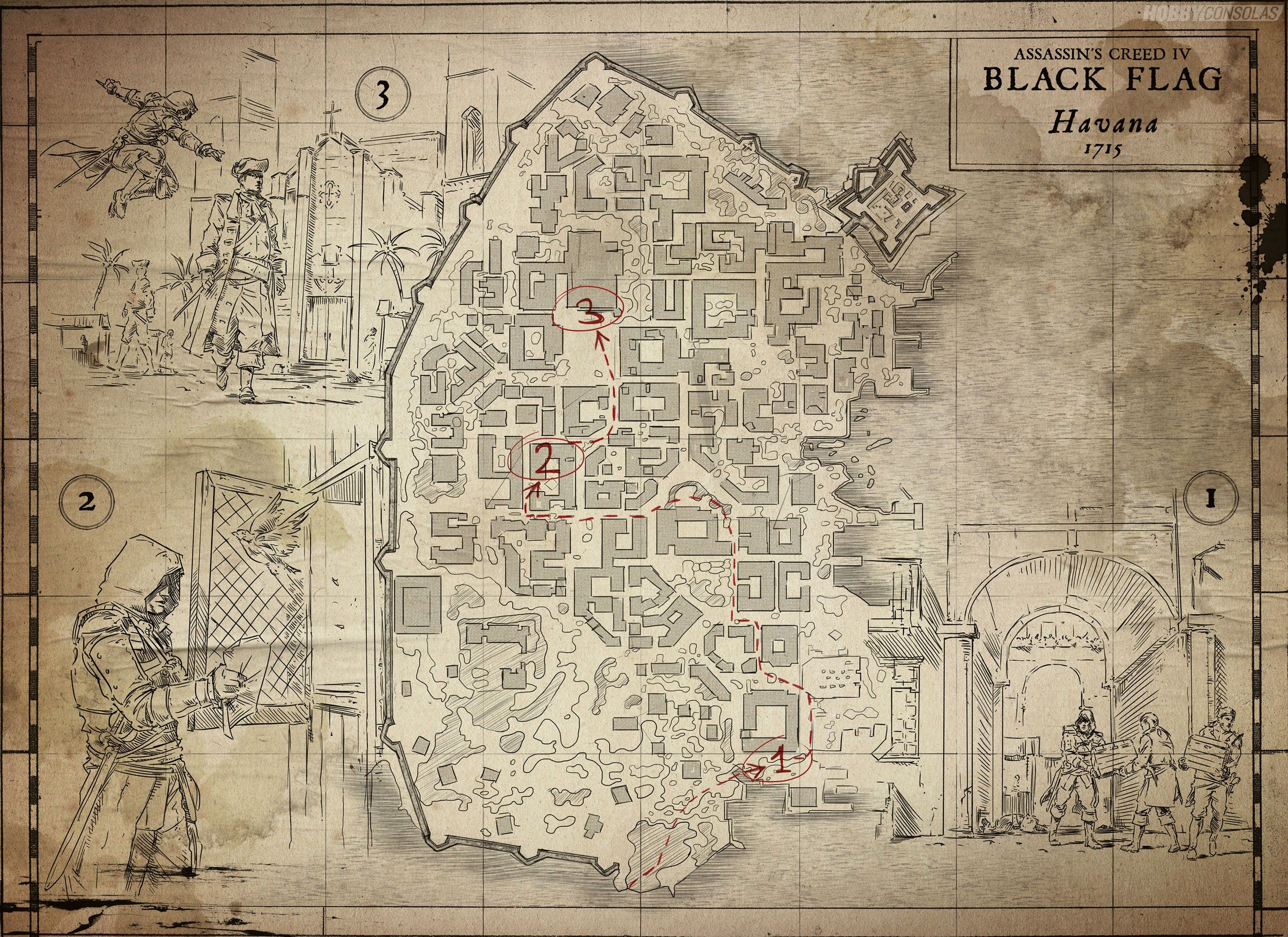 Plano La Habana 1715 Assassin S Creed Iv Mapa