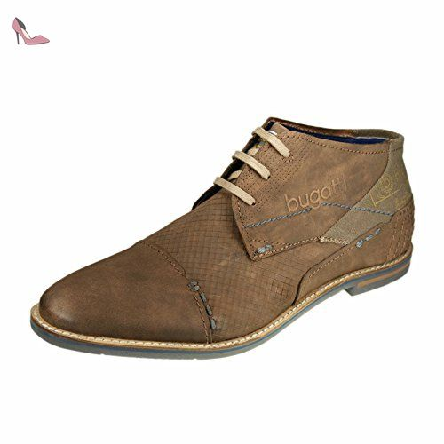 BUGATTI 312-11105 hommes Marron foncé cuir Derbies, EU 46 - Chaussures  bugatti (