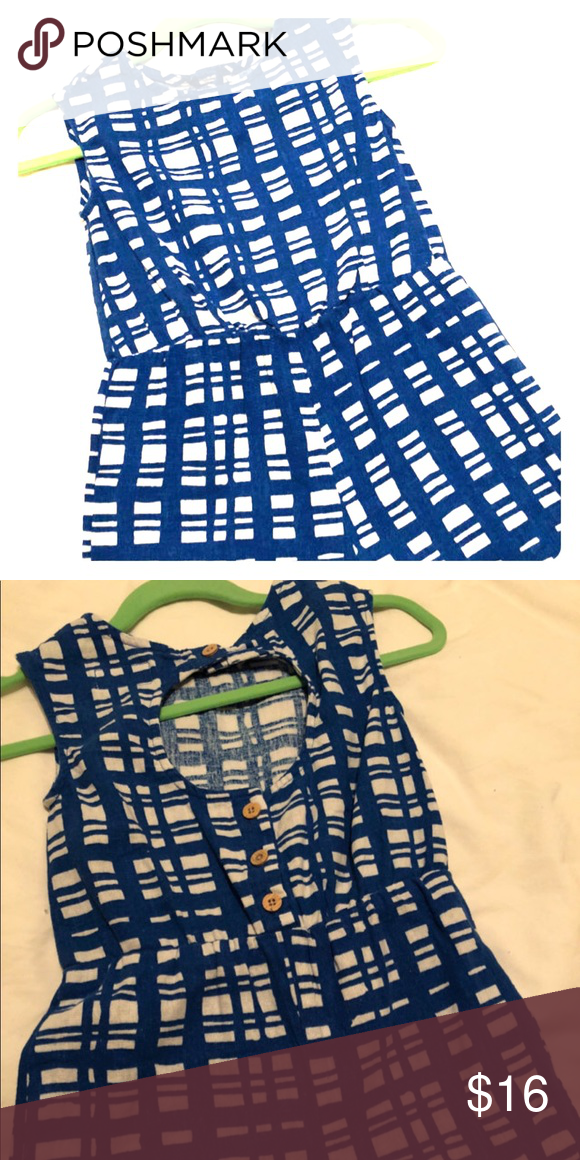 f70696e25 Royal blue squares linen blend romper gators Hard to capture the color but  we wore to a Florida Gators game with orange sandals and bow.