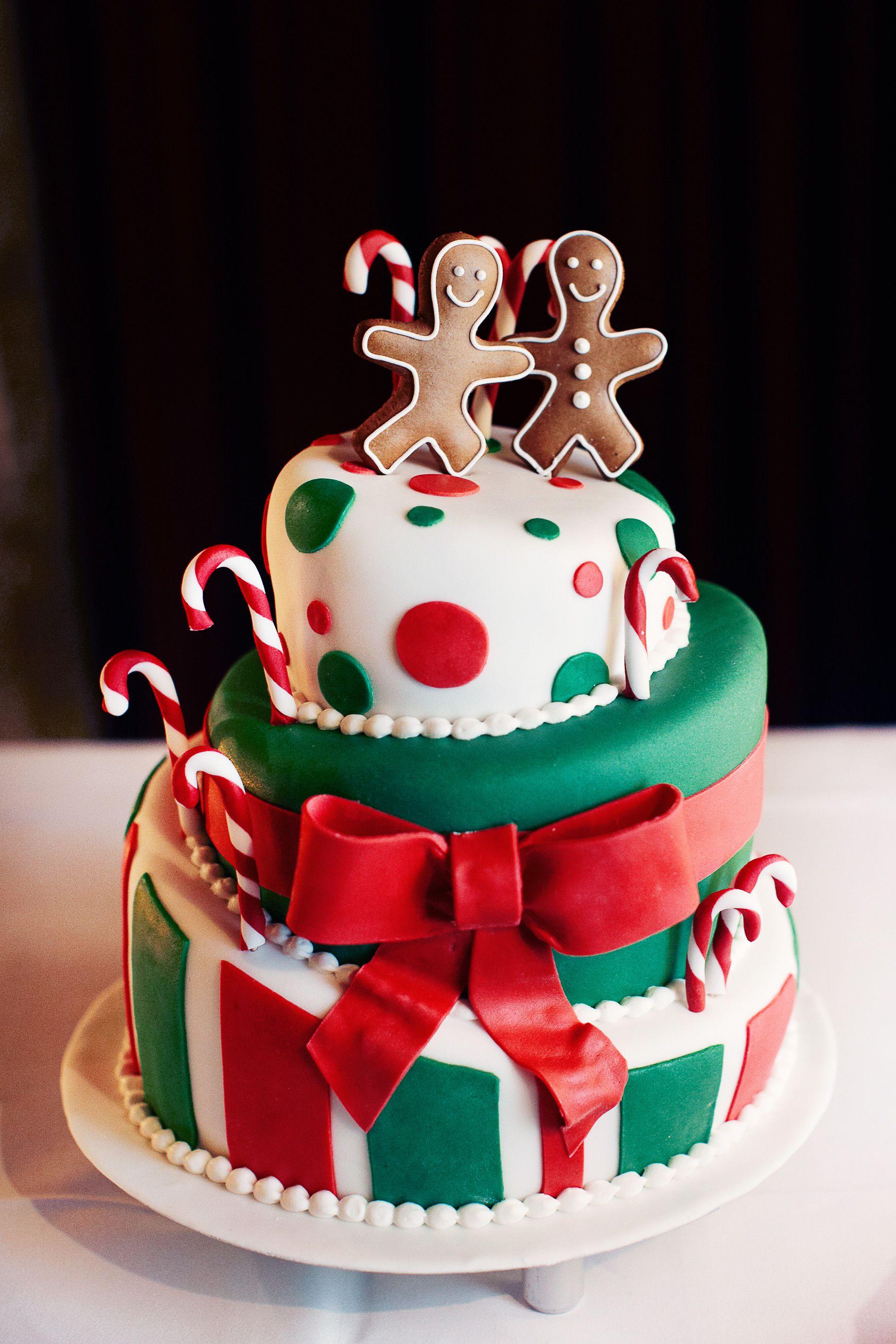 Wedding cake christimas theme Hochzeitstorte weihnachtlich ...