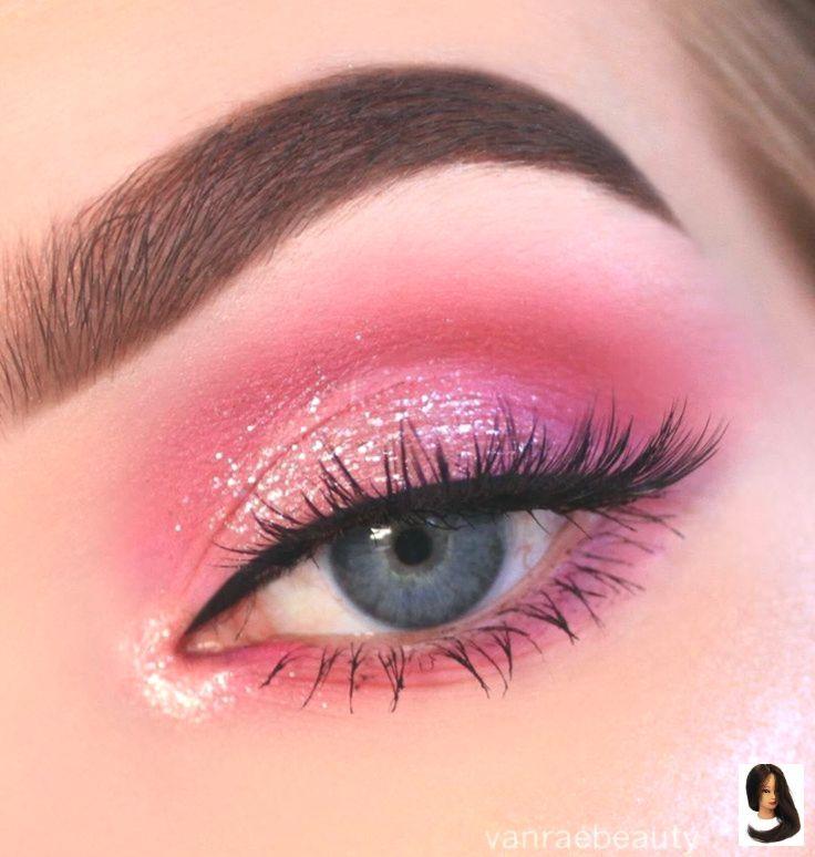 19 hermosas ideas de maquillaje de ojos – líneas de corte de sombra de ojos #makeup #smokeyeyes #eyemak … – modelos de vestido