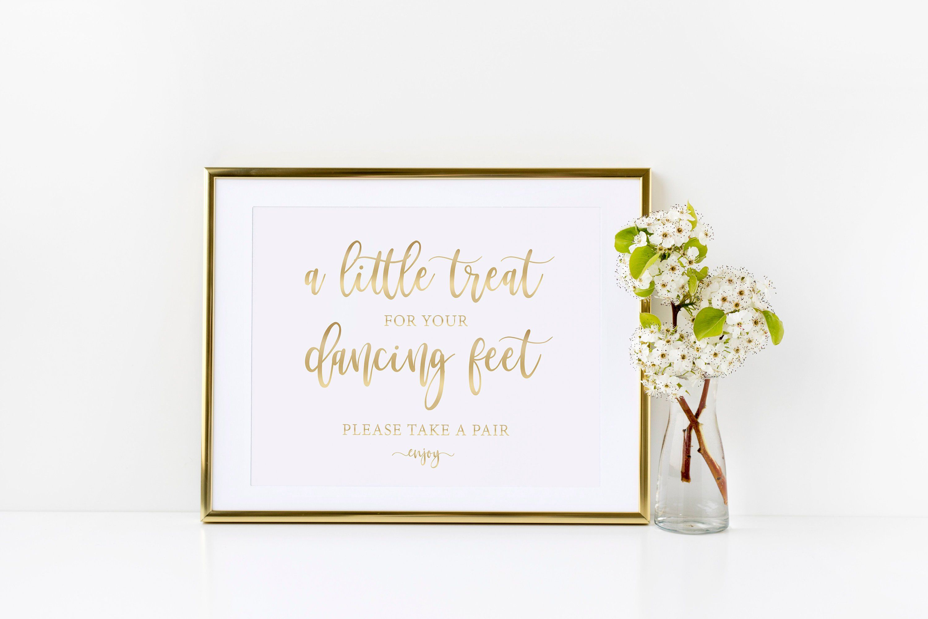 92b7c8bf756d45 Dancing Shoes Printable Wedding Sign