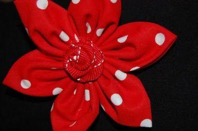 Fabric Flower Hair Bow Tutorial (she: Jill)