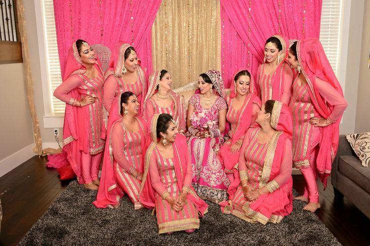 1e4b9d67a00 Bridesmaids in bubblegum pink