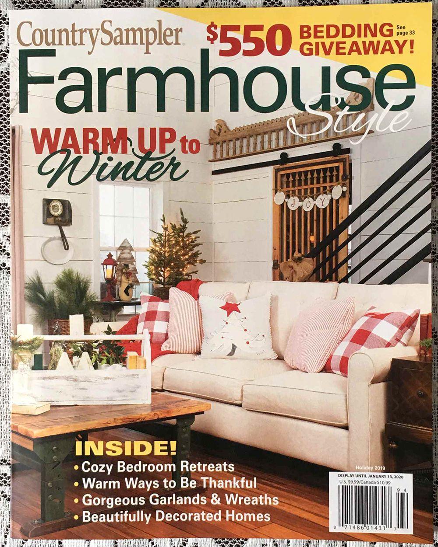 Farmhouse style magazine blog mention old design shop