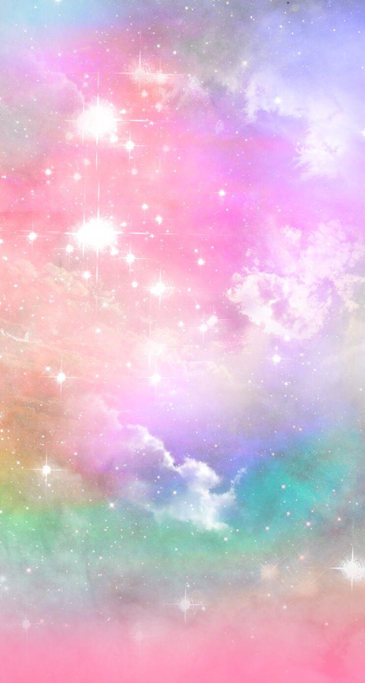 Candy Galaxy Wallpaper Ponsel Pelangi Kertas Dinding