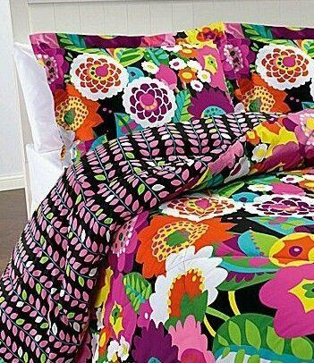 Vera Bradley Va Va Bloom 3 Piece Reversible Comforter