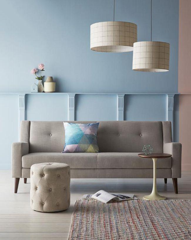 d coration pastel chez freedom canap gris canap s et gris. Black Bedroom Furniture Sets. Home Design Ideas