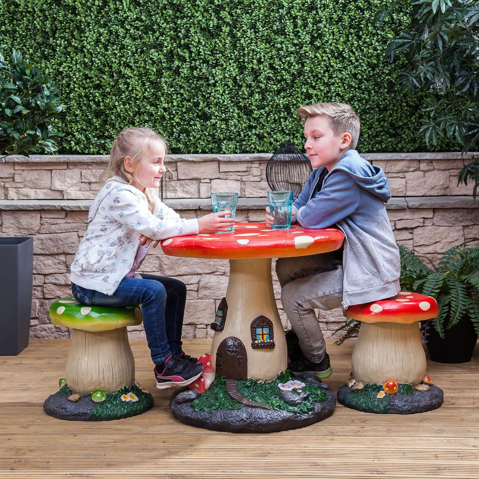 Kids Mushroom Garden Furniture Set - Kids  sc 1 st  Pinterest & Kids Mushroom Garden Furniture Set   Garden furniture sets ...