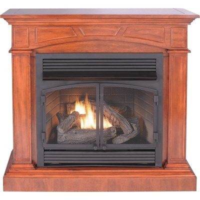 Procom Dual Fuel Vent Free Fireplace With Corner Conversion Kit