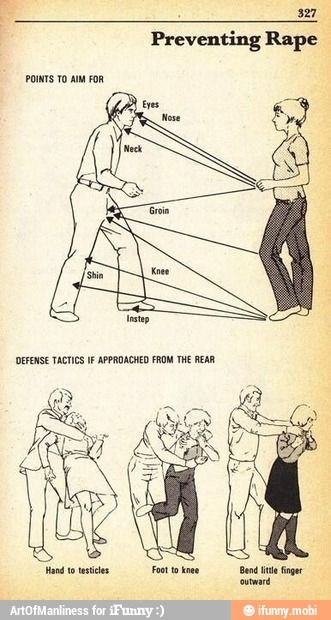 Self defense for females / iFunny :)