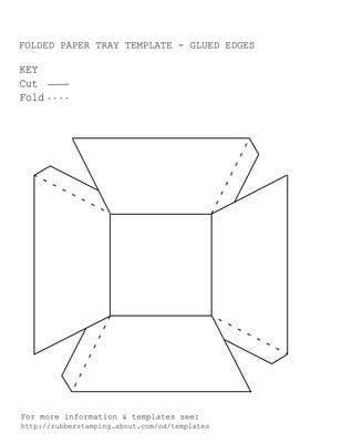Folded Paper Tray Template