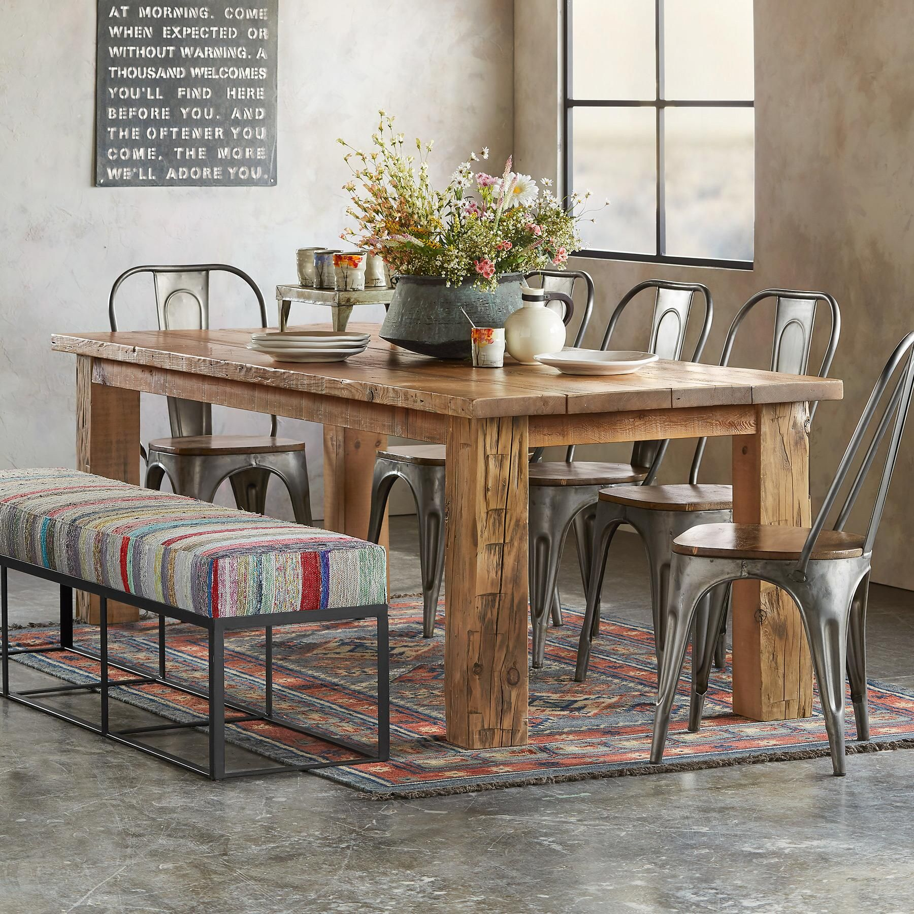 School House Plank Dining Table  Recycled Pine Floor Boards From Fair Plank Dining Room Table Review