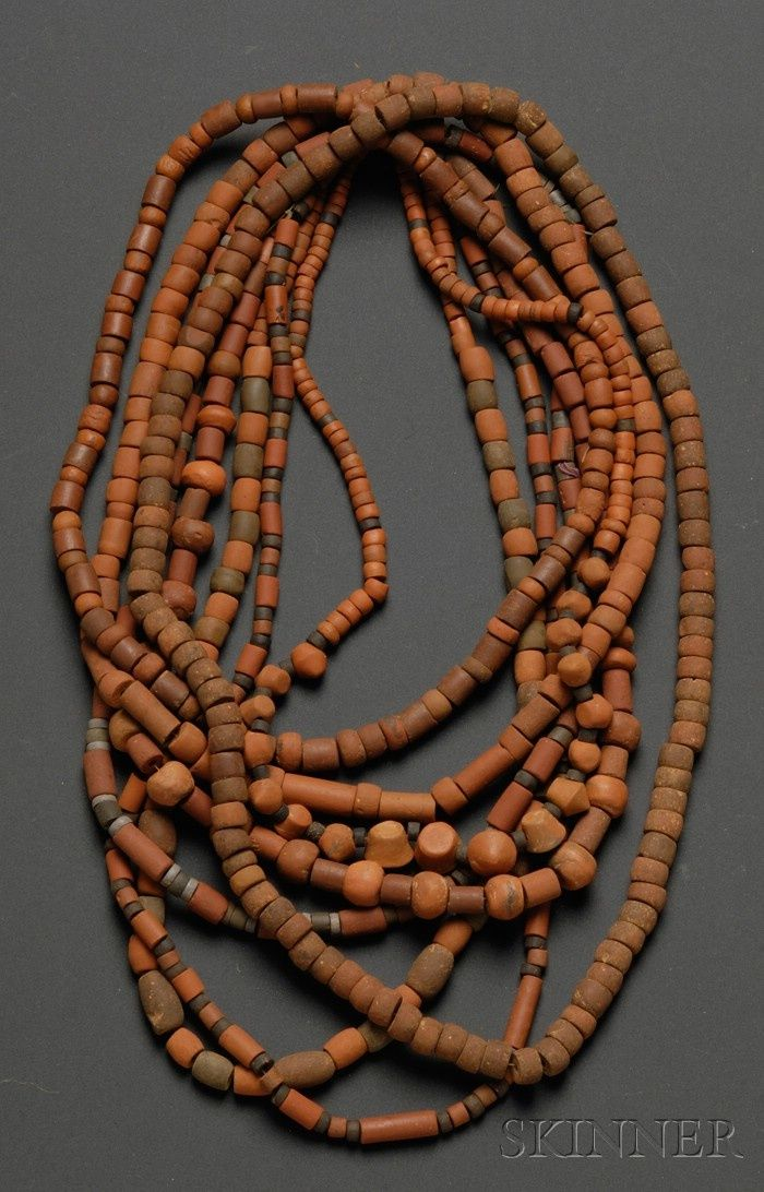 Columbia | 8 strands of cermaic bead necklace | Pre-Columbian; ca 1000 - 1500 AD | 450$ ~ Sold