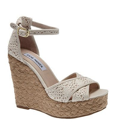 40610afb542 Steve Madden Marrvil Crochet Wedges Available at Dillards.com ...