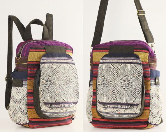 Ethnic Backpack Sling Bag Boho School Bag, College Bag, Book bag ...