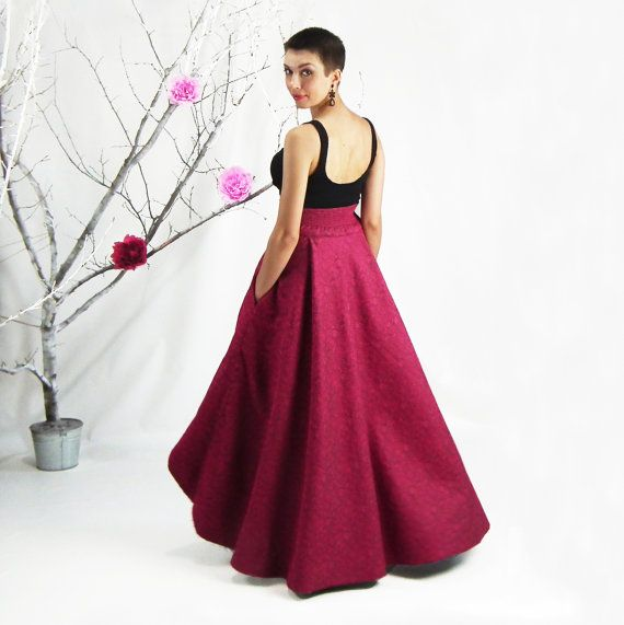 Maxi Skirt, High Low Skirt, Long High Waisted Skirt, Plus Size ...