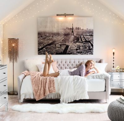 Diamond Stitched White Living Room