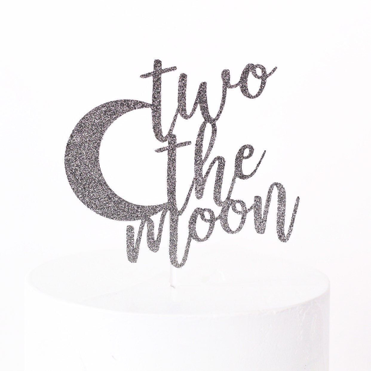 Two The Moon Cake Topper #mooncake Two The Moon Cake Topper #mooncake