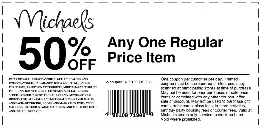 Michaels Coupons July 29th 2013 Printable Michaels Coupons Michaels Coupon Printable Coupons Print Coupons