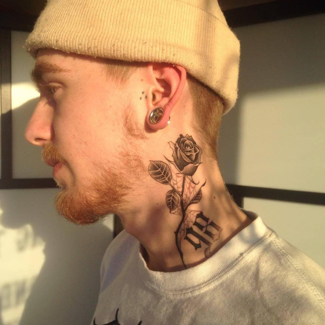 Mamacita Photo Neck Tattoo For Guys Neck Tattoo Small Neck