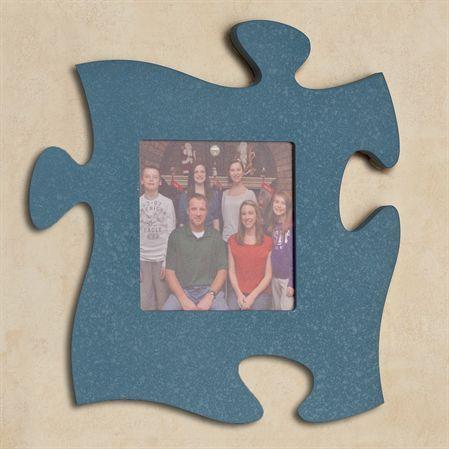 Blue Photo Frame Puzzle Piece Wall Art Puzzle piece