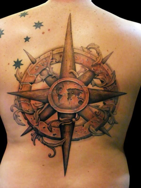 Image result for world map inside a compass board game tattoo image result for world map inside a compass gumiabroncs Images