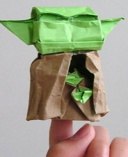 tom how do you fold the real cover yoda | Origami stars, Star wars ... | 500x408