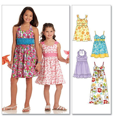 1d4ca707112 GIRLS CLOTHES PATTERN   Retired   Make Summer Dresses - Sundresses   Sizes  3 to 6 Or 7 to 14   Summer Clothes