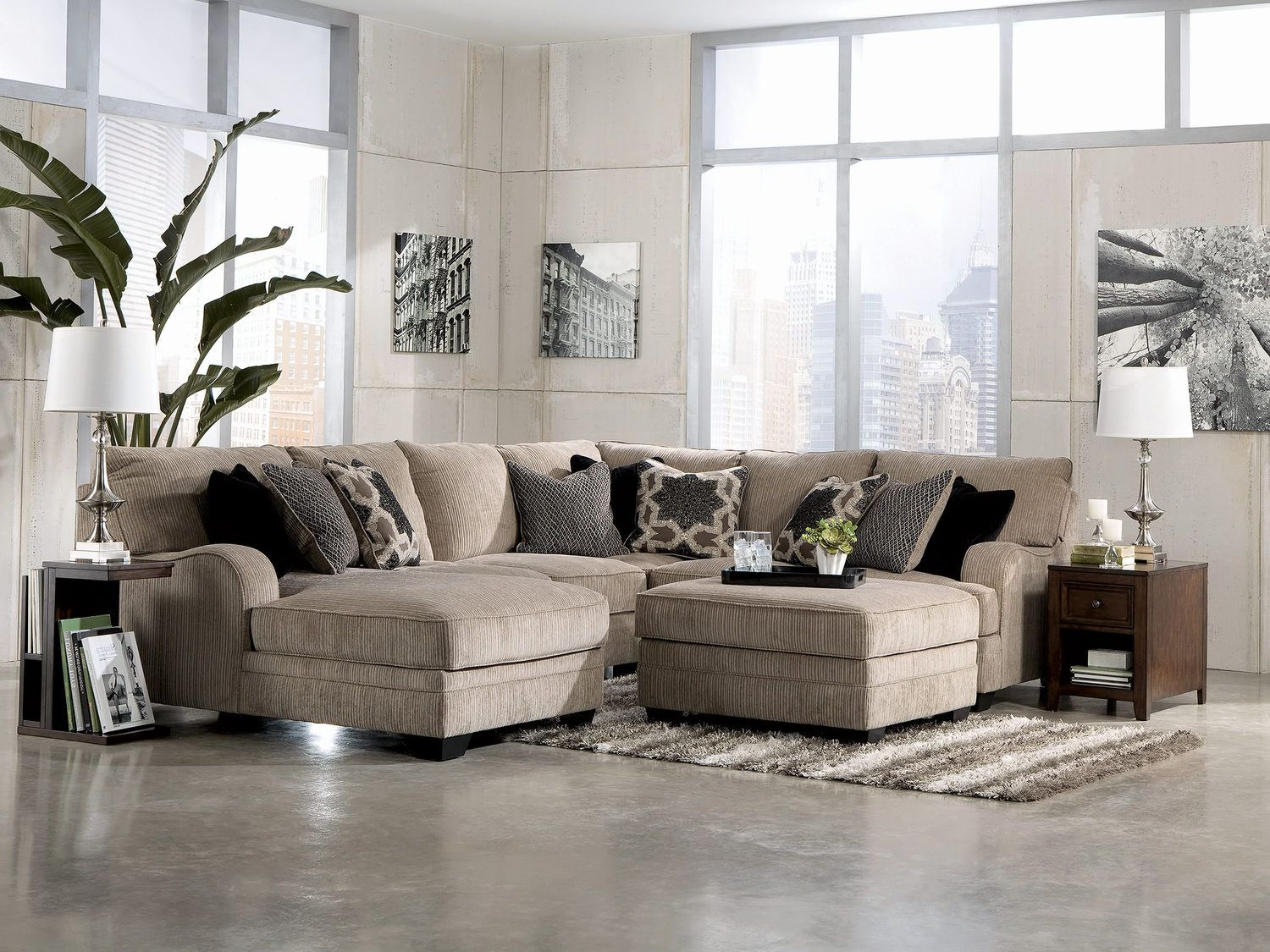 Tisha 4 Piece Sectional With Free Storage Ottoman At HOM Furniture | Furniture  Stores In Minneapolis