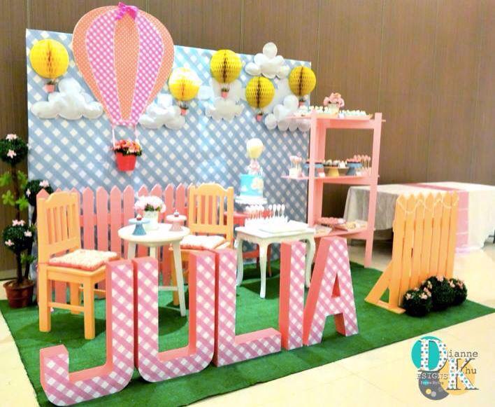 Stage design Hot Air Balloon Birthday theme Pinterest Stage