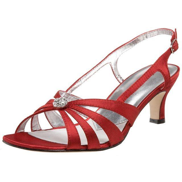 Cute designer low heel evening shoes