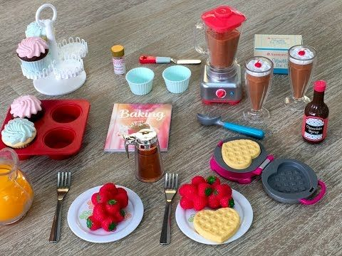 American Girl Doll Gourmet Kitchen Set ~ NEW - YouTube #americangirlhouse