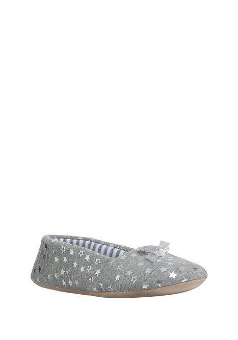 F&F Foil Star Print Ballerina Slippers | Star print, Ballerina and ...