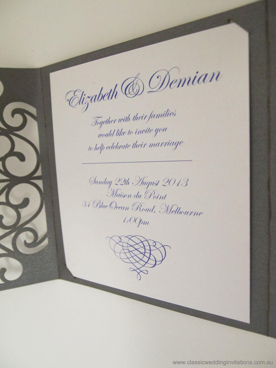 Harmony Laser Cut Trifold Wedding Invitation- http://www ...